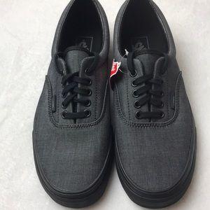 Vans Era Mono Chambray Black unisex shoes